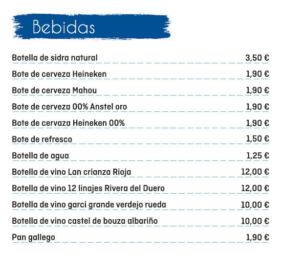 El Fontán - Pedido Online - Bebidas